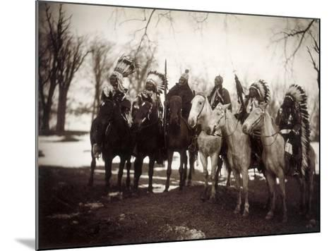Native American Chiefs-Edward S^ Curtis-Mounted Giclee Print