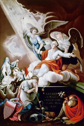 George Washington-John James Barralet-Stretched Canvas Print