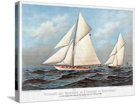 America's Cup, 1883-Currier & Ives-Stretched Canvas Print