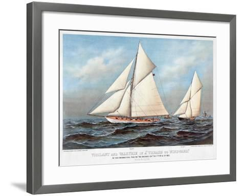 America's Cup, 1883-Currier & Ives-Framed Art Print