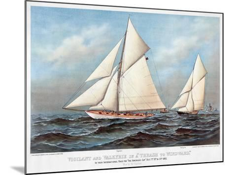America's Cup, 1883-Currier & Ives-Mounted Giclee Print