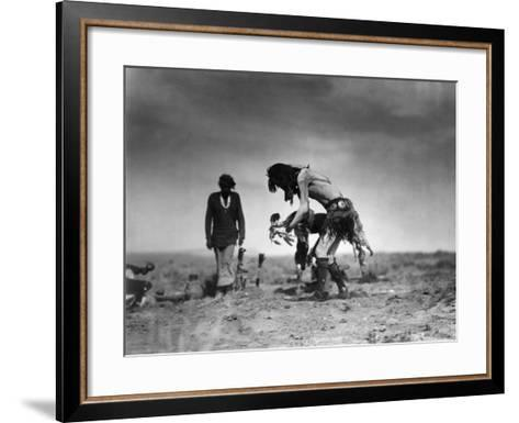 Yeibichai Ceremony, c1905-Edward S^ Curtis-Framed Art Print