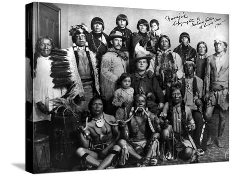 Pueblo Group, 1904--Stretched Canvas Print