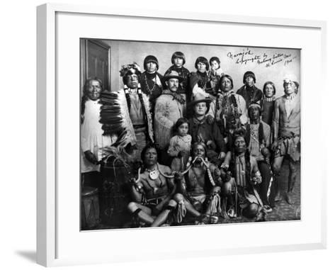 Pueblo Group, 1904--Framed Art Print