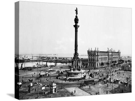 Spain: Barcelona--Stretched Canvas Print