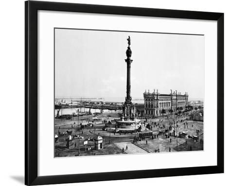 Spain: Barcelona--Framed Art Print