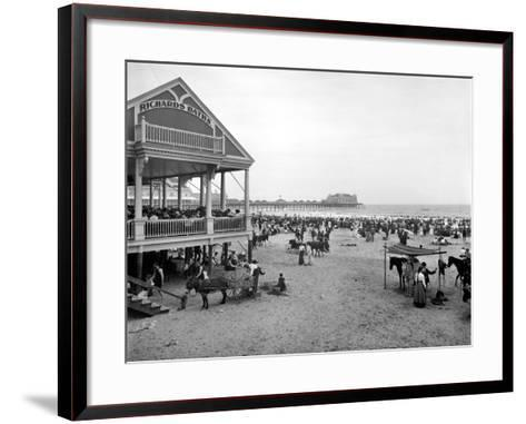 Atlantic City: Beach, c1900--Framed Art Print
