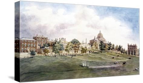 Boston: Beacon Street-J.R. Smith-Stretched Canvas Print