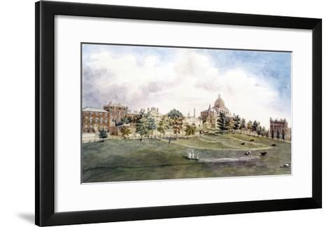 Boston: Beacon Street-J.R. Smith-Framed Art Print