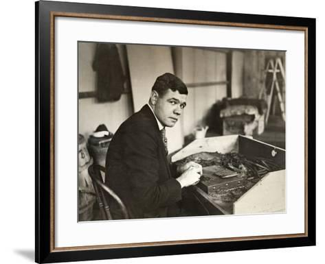 George H Ruth (1895-1948)--Framed Art Print