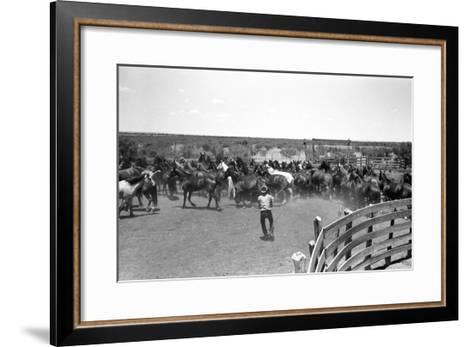 Texas: Cowboy, 1939-Russell Lee-Framed Art Print