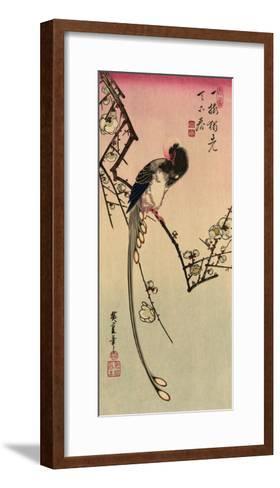 Magpie, 19th Century-Ando Hiroshige-Framed Art Print