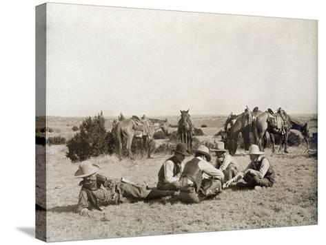 Texas: Cowboys, c1906-Erwin Evans Smith-Stretched Canvas Print