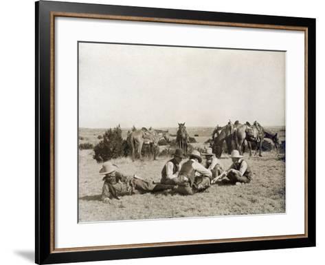 Texas: Cowboys, c1906-Erwin Evans Smith-Framed Art Print
