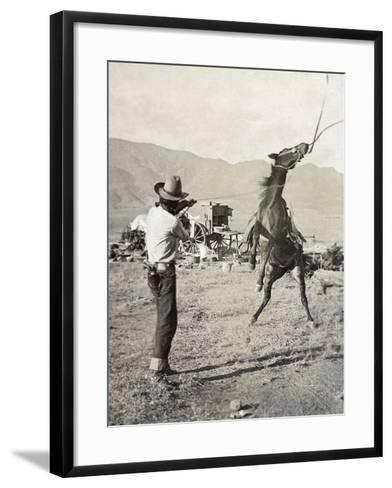 Texas: Cowboy, c1910-Erwin Evans Smith-Framed Art Print