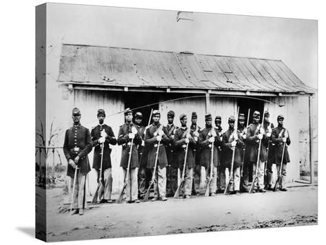 Civil War: Black Troops--Stretched Canvas Print