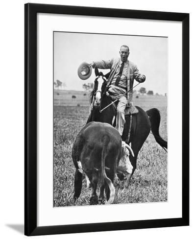 Lyndon Baines Johnson--Framed Art Print