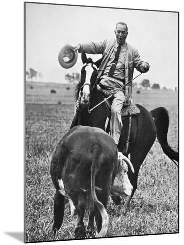 Lyndon Baines Johnson--Mounted Giclee Print