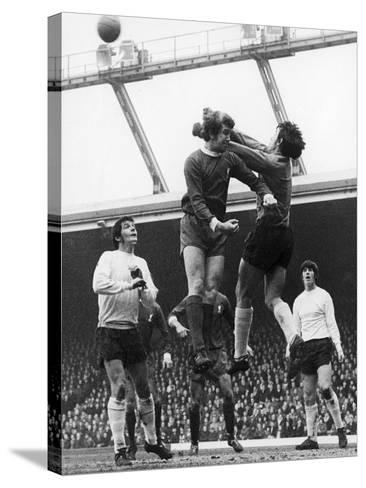 England: Soccer Game, 1970--Stretched Canvas Print
