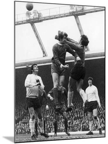 England: Soccer Game, 1970--Mounted Giclee Print