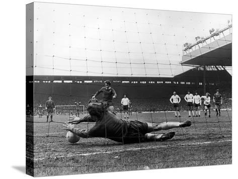 England: Soccer Game, 1973--Stretched Canvas Print
