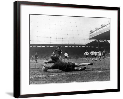 England: Soccer Game, 1973--Framed Art Print