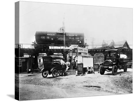 Maryland: Gas Station, c1921--Stretched Canvas Print