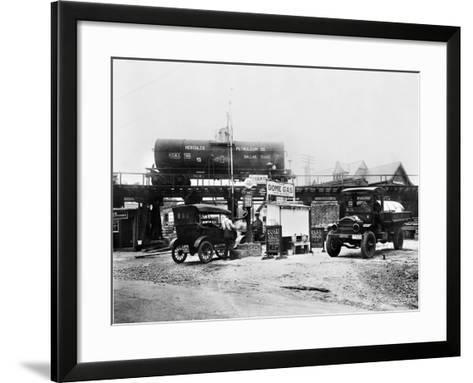 Maryland: Gas Station, c1921--Framed Art Print