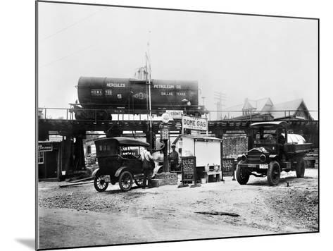 Maryland: Gas Station, c1921--Mounted Giclee Print