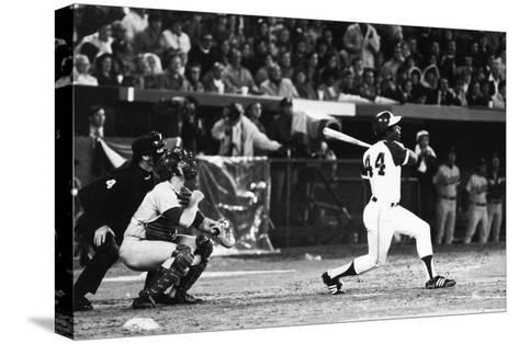 Hank Aaron (1934-)--Stretched Canvas Print