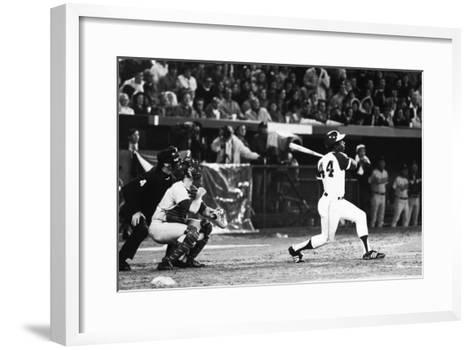 Hank Aaron (1934-)--Framed Art Print