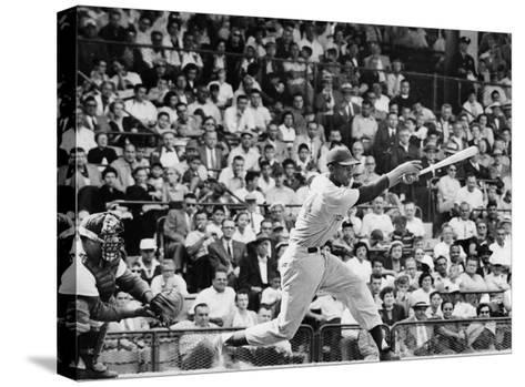 Ernie Banks (1931-)--Stretched Canvas Print