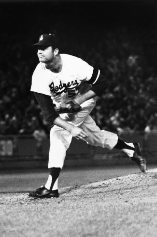 Don Drysdale (1936-1993)--Stretched Canvas Print