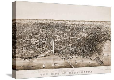 Washington DC, 1892-Currier & Ives-Stretched Canvas Print