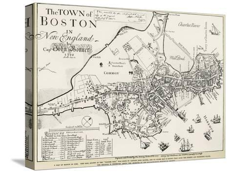 Boston Map, 1722-George G^ Smith-Stretched Canvas Print
