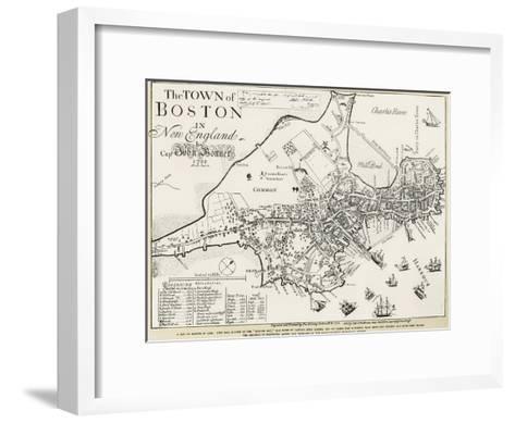 Boston Map, 1722-George G^ Smith-Framed Art Print