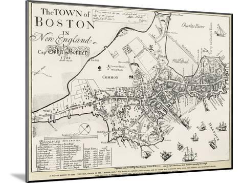 Boston Map, 1722-George G^ Smith-Mounted Giclee Print