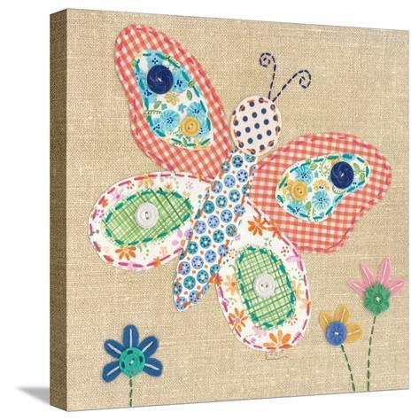 Patchwork Butterfly-Paula Joerling-Stretched Canvas Print