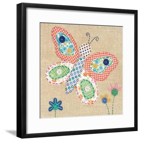 Patchwork Butterfly-Paula Joerling-Framed Art Print