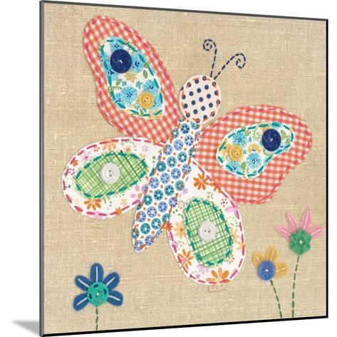 Patchwork Butterfly-Paula Joerling-Mounted Art Print