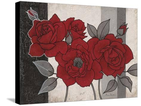 Roses and Stripes 1-Ariane Martine-Stretched Canvas Print