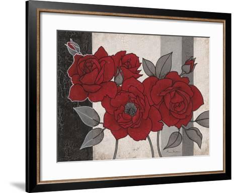 Roses and Stripes 1-Ariane Martine-Framed Art Print
