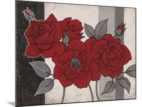 Roses and Stripes 1-Ariane Martine-Mounted Art Print