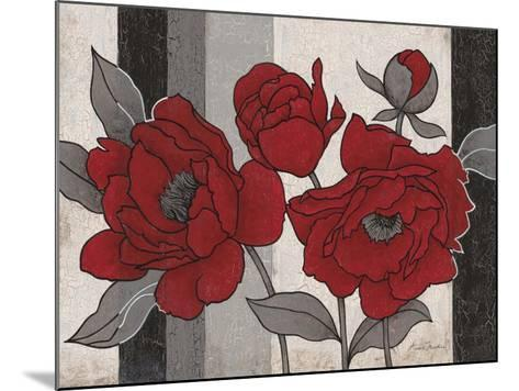 Roses and Stripes 2-Ariane Martine-Mounted Art Print