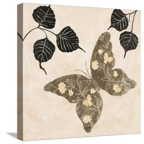 Winged Gold 2-Colleen Sarah-Stretched Canvas Print