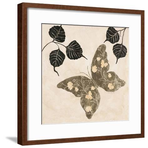 Winged Gold 2-Colleen Sarah-Framed Art Print