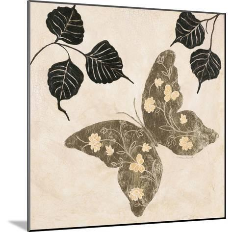 Winged Gold 2-Colleen Sarah-Mounted Art Print