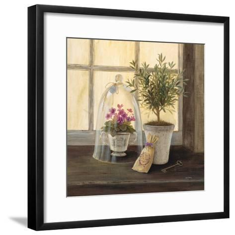 Lavender Window Garden-Angela Staehling-Framed Art Print