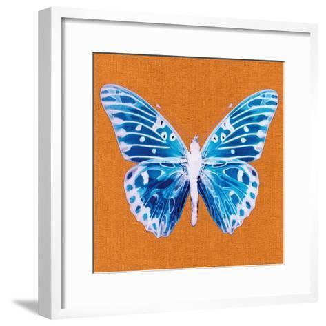 Orange Pop Butterfly-Christine Caldwell-Framed Art Print