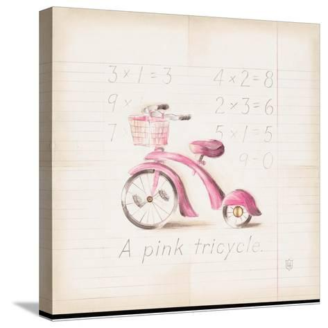Pink Tricycle-Lauren Hamilton-Stretched Canvas Print